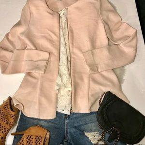 Topshop Blush Peplum Sweater/Blazer W/Stretch!💕 6